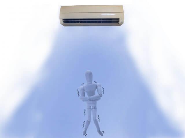 エアコン,冷え性